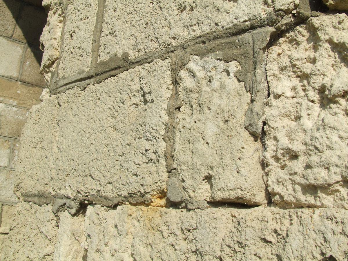 Terméskő fal habarcs